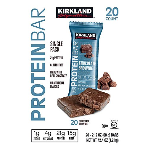 - Kirkland Signature Protein Bars Chocolate Brownie 2.12 oz, 20-count