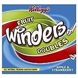 Kellogg's Fruit Winders Doubles Apple & Strawberry, 6 Rolls
