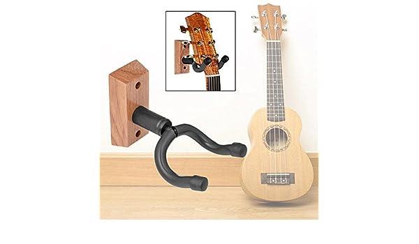 Guitarra de madera maciza negra Ganchos para colgar en la pared ...