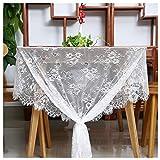 QueenDream 60 X120 Inch Lace Tablecloth - White