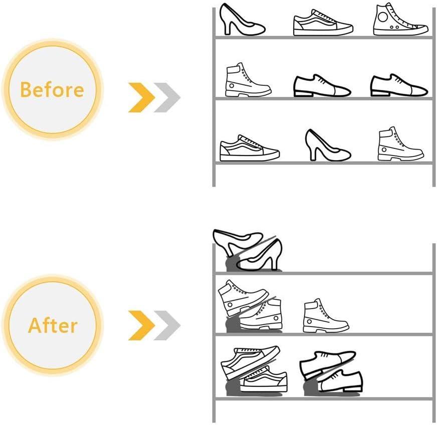 Ahorro De Espacio De Las Ranuras De Los Zapatos De La Casa De Los Zapato Organizador De Las Ranuras De Los Zapatos Ahorro De Espacio para Organizadores De Zapatos ? B/&E Store Shoe Slots Space Saver