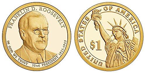 2014 S Franklin D Roosevelt Proof Dollar PF1 US Mint ()
