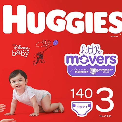 Huggies Little Movers, Baby Diapers, Size 3, 140 Ct