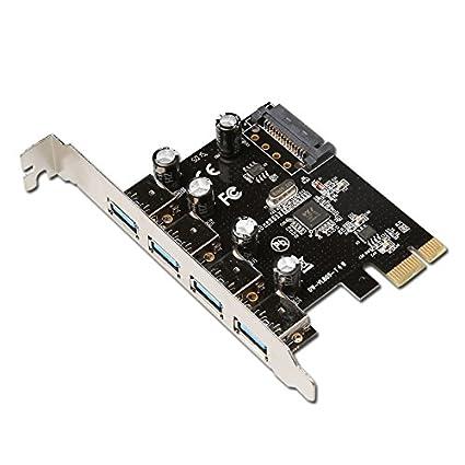 diewu4 puertos PCI-E a USB 3.0 tarjeta de expansión - interfaz USB ...