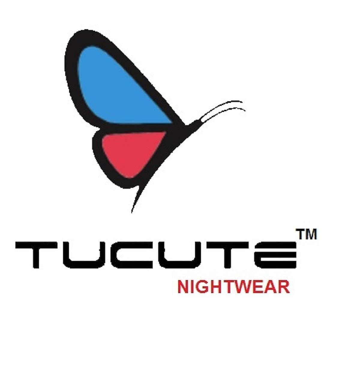 TUCUTE Womens Premium Cotton Fabric Nighty Night Gown Nightwear Nightdress  with Leaf Print. (Magenta-Sky Blue-2695 3e92b8336