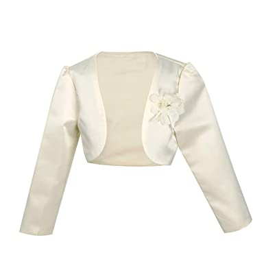 202fa2df2830e FEESHOW Enfant Fille Boléro Princesse Veste Cape de Demoiselle d'honneur  Veste Gilet Coat pour