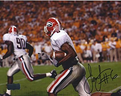 a9bbf66751d Sean Jones Autographed Signed Classic Georgia Bulldogs 8x10 NCAA Photo   quot Running quot