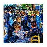 CafePress - Renoir: Dance At Moulin D.L. Galette - Tile Coaster, Drink Coaster, Small Trivet