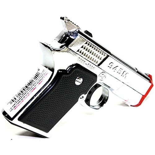 DIYJewelryDepot Silver Pistol Gun Twin Torch Lighter Refillable Cigar Cigarette Stove Miniature Lighters
