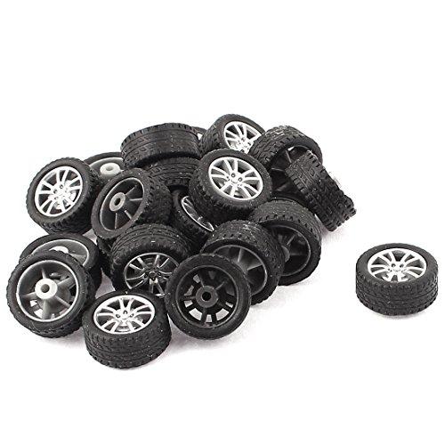 uxcell RC Smart Cars Truck Parts 18mm Plastic Hub Drift Wheel Tire -