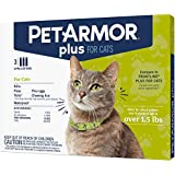PETARMOR Plus Flea & Tick Prevention for Cats with Fipronil (Over 1.5 lb), 3 Monthly Treatments