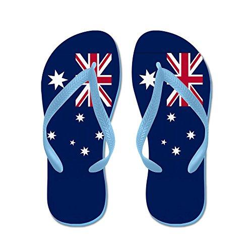 Cafepress Drapeau Australien - Tongs, Sandales String Drôle, Sandales De Plage Bleu Caraïbes