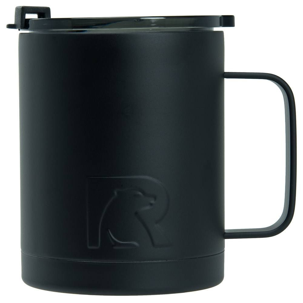RTIC Double Wall Vacuum Insulated 12oz Coffee Cup (Black)
