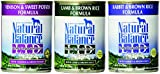 Variety Natural Balance Limited Ingredient Diets® Canned Dog Formula - 13oz x 12cans, Venison & Sweet Potato, Rabbit & Brown Rice, Lamb & Brown Rice