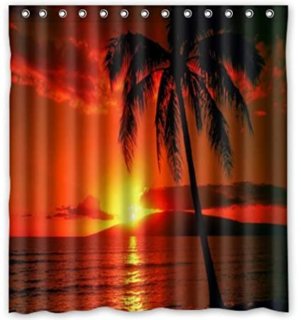 Amazon FMSHPON Hawaii Summer Beach Palm Tree Sea Sunset Scenery
