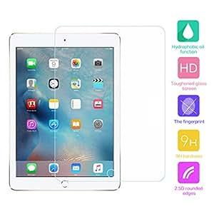 cuitan Premium 9H Dureza Vidrio Templado Protector de pantalla para Apple iPad Pro, antiarañazos y antihuellas película transparente protector de pantalla transparente protección Protector de 0,3mm de grosor–transparente