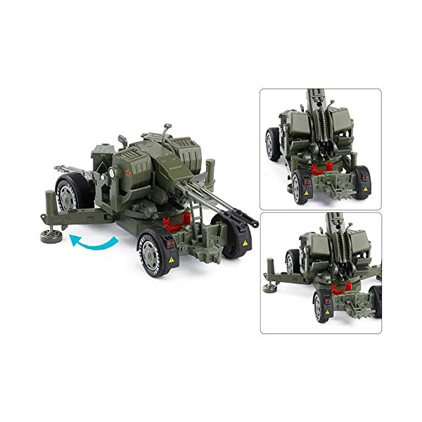 LXWM 1/35 Model Military Toys Anti-Aircraft Weapon System Aircraft Anti-Aircraft Gun Diecast Metal Toy Model for… 7