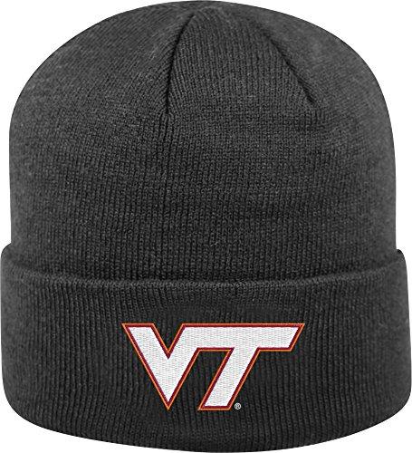 Top of the World Men's Virginia Tech Hokies Black Cuff Knit Beanie (OneSize)
