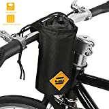 opamoo Bike Bicycle Water Bottle Holder Bag – Handlebar Cup Drink Holder Insulated Stem Bag Attachment Bicycle Cup Holder Water Bottle Drink Holder Food Snack Storage for huffy,Mountain,Pushchair