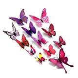 Bathroom Wall Decals Amaonm 24pcs 3d Vivid Special Man-made Lively Butterfly Art DIY Decor Wall Stickers Decals Nursery Decoration, Bathroom Dcor, Office Dcor, 3d Wall Art, 3d Crafts for Wall Art Kids Room Bedroom
