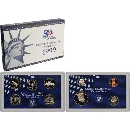 1999 S US Mint Proof Set Original Government - Mint 1999 United States Proof Set
