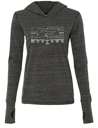 Ladies Ford Mustang Honeycomb Grille Charcoal Tri Blend Hoodie XL [Apparel]