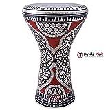 Gawharet El Fan 17'' Mother of Pearl Darbuka Red Gate Darbuka Drum Percussion