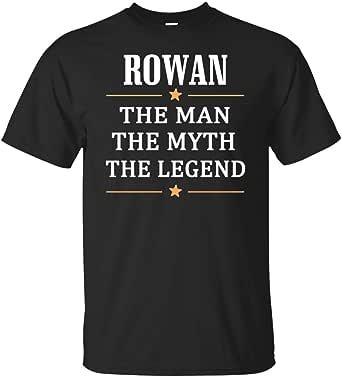 Amazon.com: Name Rowan The Man Myth Legend T Shirt ...