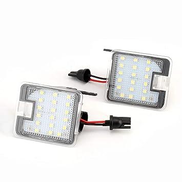 XENON 7908 - Juego de 2 luces LED para espejo retrovisor, color blanco