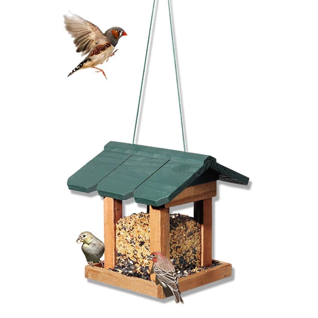 fabbrica diretta NYDZDM Wild Bird Feeder verde verde verde Grande Giardino in Legno per Uccelli Stazione di Alimentazione  shopping online di moda