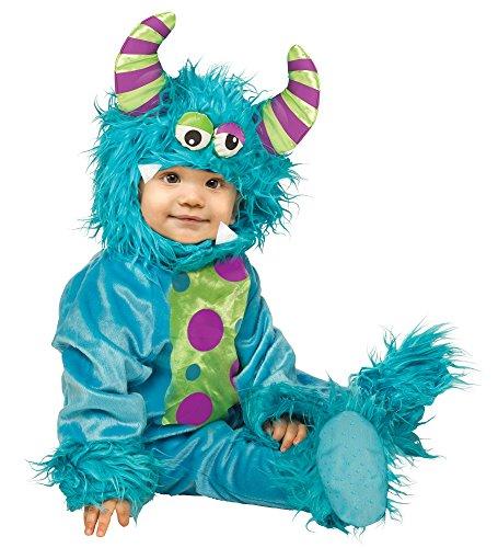 Fun World Costumes Baby's Li'L Monster Infant Costume, Blue, Small(6-12mo.) -