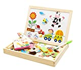 Magnetic Puzzle Drawing Board (Black/White board) (Forest Paradise Spells Happily)