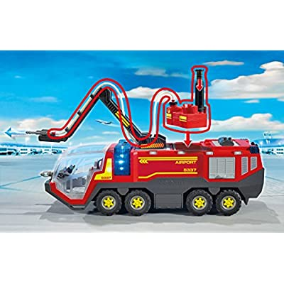PLAYMOBIL Firefighting Operation with Water Pump Building Set: Toys & Games