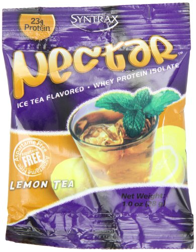 Tea Lemon Isolate Powder Protein (Nectar Grab N' Go, Lemon Tea, 12 packets, 28 grams per packet)