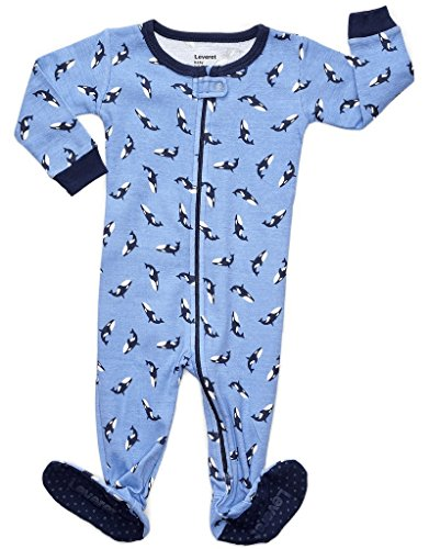 Leveret Killer Whale Footed Pajama 12-18 Months