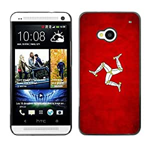 Shell-Star ( National Flag Series-Isle of Man ) Snap On Hard Protective Case For HTC One (M7)