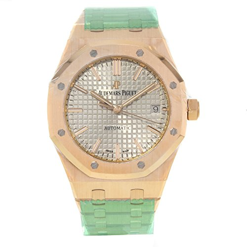 - Audemars Piguet Royal Oak Silver Dial Automatic 18 Carat Yellow Gold Mens Watch 15450BA.OO.1256BA.01