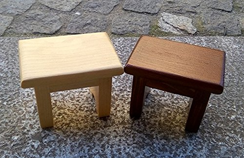 Wooden Mini benches in Cherry wood and Oak wood