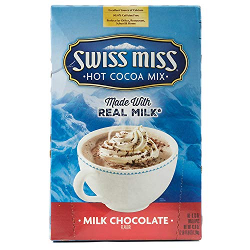 Milk Chocolate Swiss Miss Hot Cocoa Mix 0.73 Ounces Envelopes 60 -