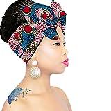 African Head Wrap | HEADBAND | HEAD WRAP | Hijab | PREMIUM QUALITY HEAD WRAP African Head Wraps Hair Loss African Fabric Turban Headband Muslim Head Cover Under Scarf
