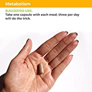 Metabolism - Weight Control and Energy Booster Supplement - Natural Appetite Suppressant - Mood Enhancement - Contains Chromium and Cocoa Bean Extract - Value Size (140 Capsules)