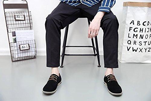 Footwear Design Leather Stylish Males Split Patchwork Men For Black Dress Casual Shoes Oxfords Purple 6qRaTwP