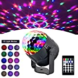 [2019 Latest Version 15 Colors] AOGUERBE Stage Light DJ Party Lights Disco RGB LED Mini Magic Crystal Ball Strobe Lamp Sound Activated Remote Control Halloween Christmas Lighting Atmosphere [UK Plug]