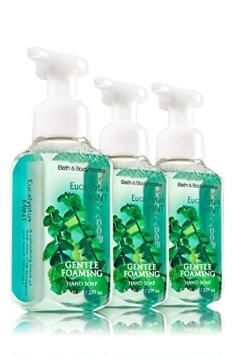 Bath and Body Works Eucalyptus Mint, Gentle Foaming Hand Soap, 8.75 Ounce (3-Pack) ()