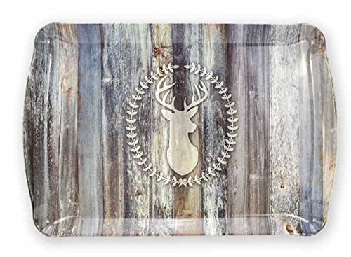 Deer Tray (Brownlow Gifts Melamine Serving Tray, Yes Deer!)
