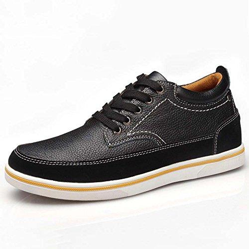 ZXCV Zapatos al aire libre Stealth dentro del aumento en los zapatos de los hombres Negro