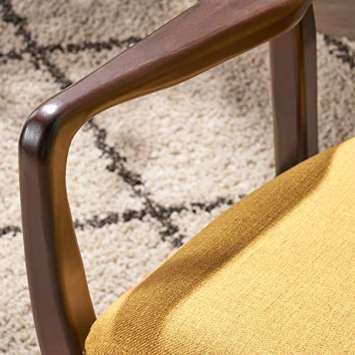 Christopher Knight Home 304780 Ventura Mid Century Modern Fabric Club Chair, Mustard - 6