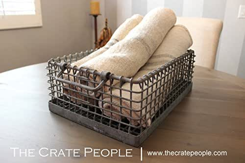 German Galvanized Metal Bins | Vintage Industrial Metal Wire Baskets – great for keeping organized!
