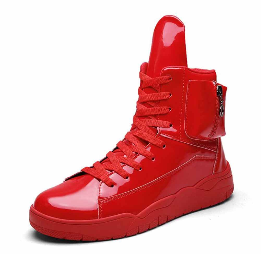 Hombres ligeros Martin Boots 2017 Otoño Invierno Nueva Hi-Top Sneakers Moda Deportes Skateboard Shoes ( Color : Red , Size : 40 ) 40|Red