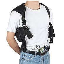 xhorizon TM FLK Ambidextrous Horizontal Shoulder Holster with Double Magazine Holder